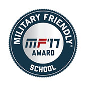 Military Friendly School Badge - MF'17 Award